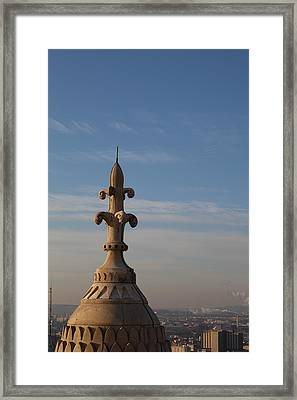 View From Basilica Of The Sacred Heart Of Paris - Sacre Coeur - Paris France - 011323 Framed Print by DC Photographer