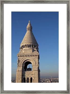 View From Basilica Of The Sacred Heart Of Paris - Sacre Coeur - Paris France - 011324 Framed Print