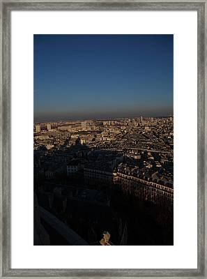 View From Basilica Of The Sacred Heart Of Paris - Sacre Coeur - Paris France - 011325 Framed Print