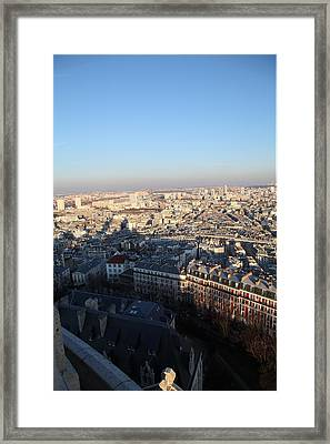 View From Basilica Of The Sacred Heart Of Paris - Sacre Coeur - Paris France - 011326 Framed Print by DC Photographer