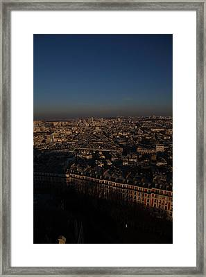 View From Basilica Of The Sacred Heart Of Paris - Sacre Coeur - Paris France - 011327 Framed Print by DC Photographer