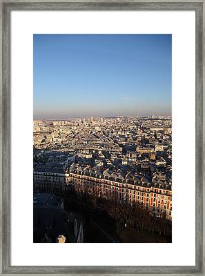 View From Basilica Of The Sacred Heart Of Paris - Sacre Coeur - Paris France - 011328 Framed Print by DC Photographer