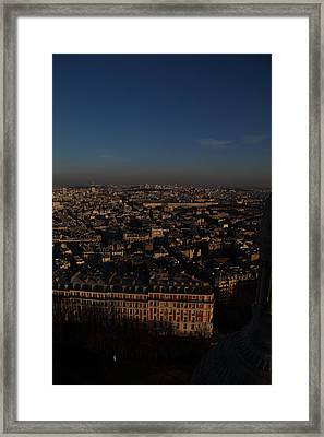 View From Basilica Of The Sacred Heart Of Paris - Sacre Coeur - Paris France - 011329 Framed Print by DC Photographer