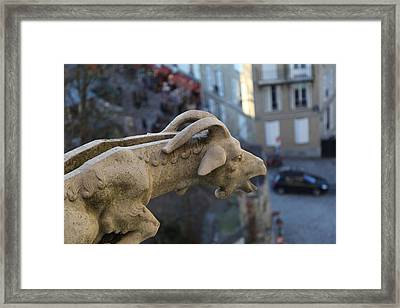 View From Basilica Of The Sacred Heart Of Paris - Sacre Coeur - Paris France - 01133 Framed Print by DC Photographer