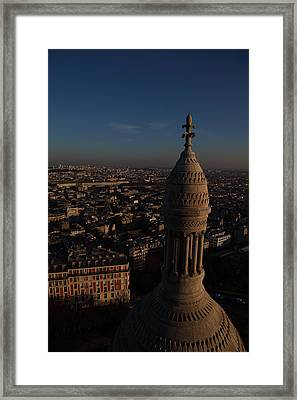 View From Basilica Of The Sacred Heart Of Paris - Sacre Coeur - Paris France - 011331 Framed Print