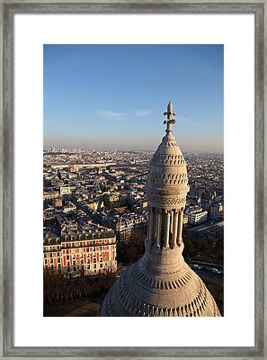 View From Basilica Of The Sacred Heart Of Paris - Sacre Coeur - Paris France - 011332 Framed Print