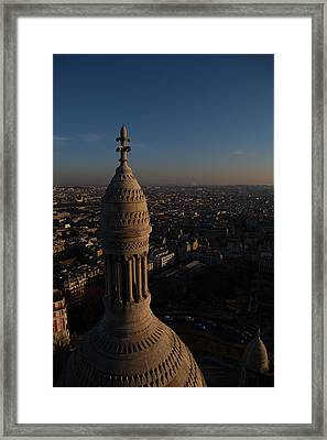 View From Basilica Of The Sacred Heart Of Paris - Sacre Coeur - Paris France - 011333 Framed Print