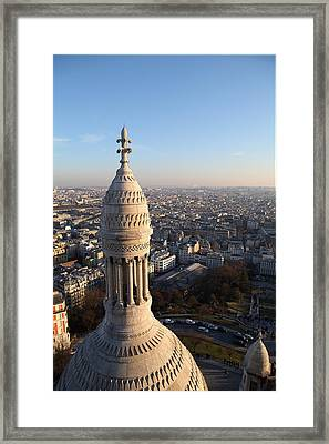 View From Basilica Of The Sacred Heart Of Paris - Sacre Coeur - Paris France - 011334 Framed Print by DC Photographer