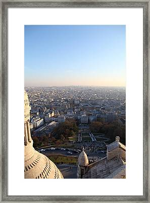 View From Basilica Of The Sacred Heart Of Paris - Sacre Coeur - Paris France - 011336 Framed Print