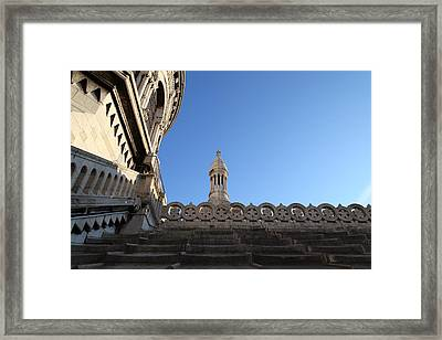 View From Basilica Of The Sacred Heart Of Paris - Sacre Coeur - Paris France - 01134 Framed Print by DC Photographer