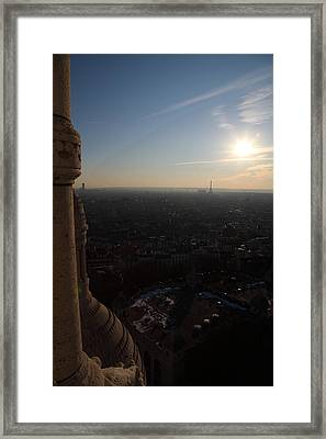 View From Basilica Of The Sacred Heart Of Paris - Sacre Coeur - Paris France - 01139 Framed Print