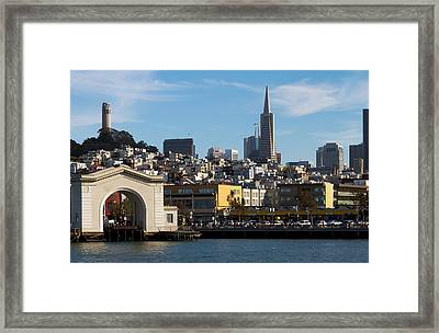 View From Bay Framed Print by Bernard  Barcos