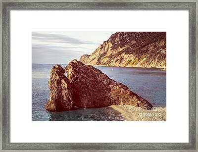 View From Beach Of Monterosso Framed Print