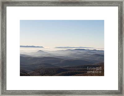 View From Blood Mountain Framed Print by Paul Rebmann