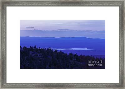 View From Cadillac Mountain Framed Print by Diane Diederich