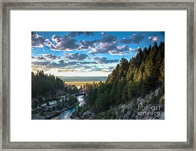 View From Cascade Dam Of The North Fork Of The Payette River Framed Print by Robert Bales