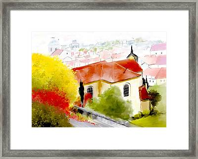 View From Castle Hill Prague Framed Print