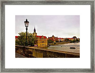 View From Charles Bridge Framed Print by Madeline Ellis