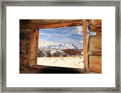 View From Cunningham Cabin Framed Print