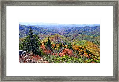 View From Devil's Courthouse Rock Framed Print