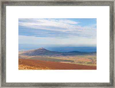 View From Djouce Mountain Towards Sugar Loaf Framed Print by Semmick Photo
