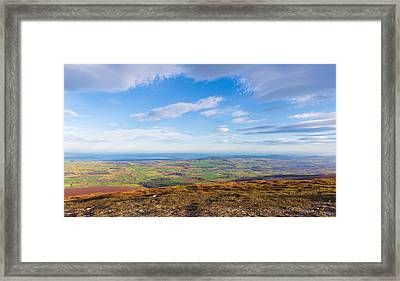View From Djouce Towards The Irish Coast Line Framed Print by Semmick Photo