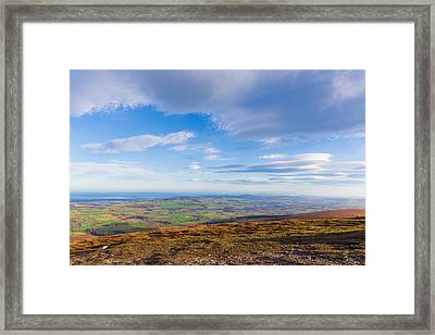 View From Djouce Towards Vatry Reservoir In Roundwood Framed Print by Semmick Photo