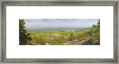 View From Dorr Mountain Over Great Meadow Acadia National Park Maine Framed Print