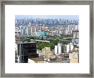View From Edificio Martinelli 2 - Sao Paulo Framed Print by Julie Niemela