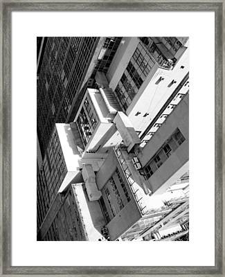 View From Edificio Martinelli Bw - Sao Paulo Framed Print by Julie Niemela