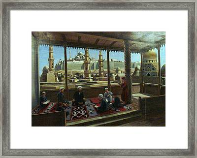 View From Egypt Framed Print by Laila Awad Jamaleldin