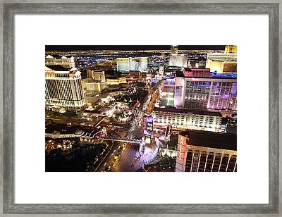View From Eiffel Tower In Las Vegas - 01134 Framed Print