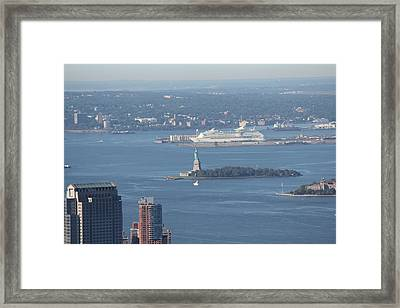 Framed Print featuring the photograph View From Empire State Building by David Grant