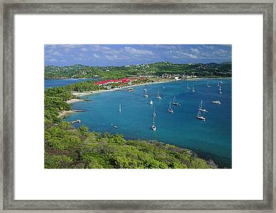 View From Fort Rodney-st Lucia Framed Print