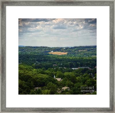 Framed Print featuring the photograph View From Goat Hill by Debra Fedchin