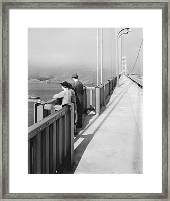 View From Golden Gate Bridge Framed Print by Underwood Archives