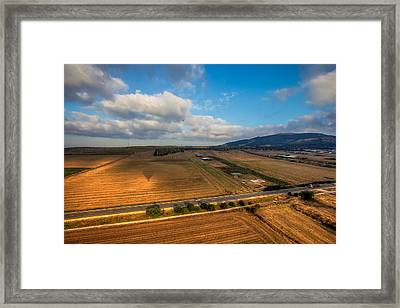View From Hot Air Balloon Framed Print