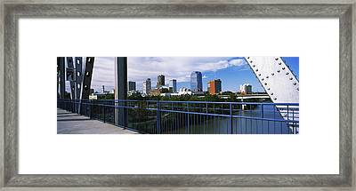 View From Junction Bridge Pedestrian Framed Print
