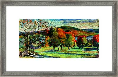 View From Kripalu Towards Lake Mahkeenac Framed Print