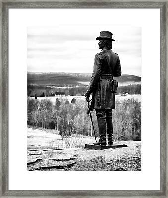 View From Little Round Top Framed Print by John Rizzuto