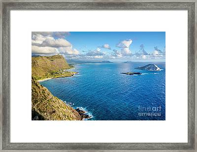 Framed Print featuring the photograph View From Makapuu Point by Aloha Art
