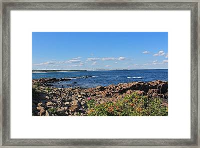 View From Marginal Way Ogunquit Maine 3 Framed Print