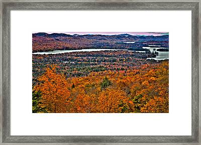 View From Mccauley Mountain Framed Print by David Patterson