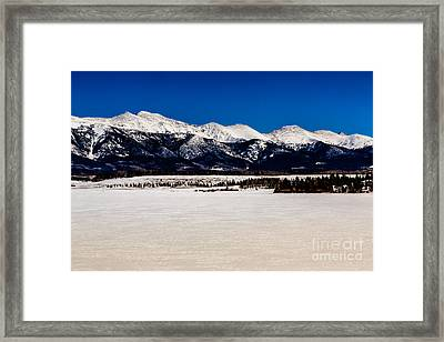 View From Meadow Creek Resevoir Framed Print by Jon Burch Photography