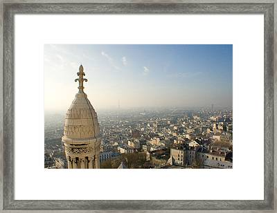 Framed Print featuring the photograph View From Montmartre by Jon Emery