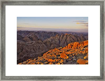 View From Mount Sinai Framed Print by Ivan Slosar