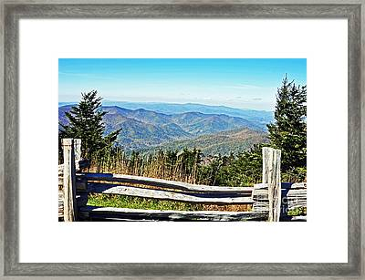 View From Mt. Mitchell Summit Framed Print