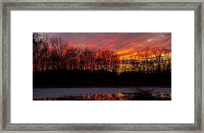 View From My Driveway Crop 2 Framed Print by Michael J Samuels