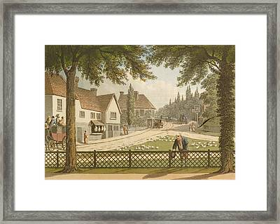 View From My Own Cottage In Essex Framed Print by Humphry Repton