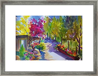 View From My Studio Door Framed Print by Therese Fowler-Bailey